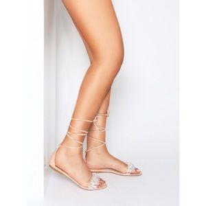 Shoes - SIMMI London Size 7 lace up gem sandals